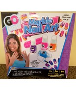 84 pieces Go Girl MARBLE NAIL ART Kit Polish Stickers How To Effects Awe... - $19.79