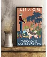 Vintage Girl Loves Gardening Alaskan Malamute, Art Prints Poster Home De... - $25.59+