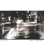 NOTED PHOTOGRAPHER HELMUT HIRLER ORG 1992 SIGNED PRINT-NYC NIGHT STREET ... - $199.99