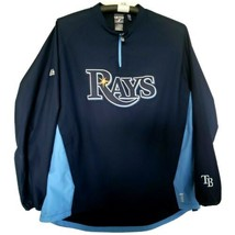 Tampa Bay Rays Majestic Cool Base Pullover Jersey Jacket Warm Up Style XLarge XL - $69.88