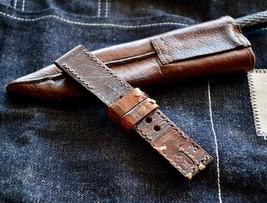 24mm Handmade Swiss Ammo Leather watchband watch strap vintage retro mil... - $163.35