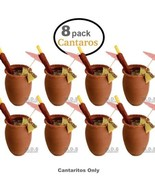8 x Authentic Mexican Cantaritos Jarritos Barro Hot or Cold Beverages Dr... - $34.95