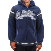 Men's Athletic Los Angeles Varsity Sherpa Fleece Lined LA Zip Up Hoodie Jacket image 9