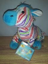 "NEW HTF  10"" SEALED CODE Webkinz ""Rainbow Zebra"" Stuffed Interactive Web Plush  - $32.00"