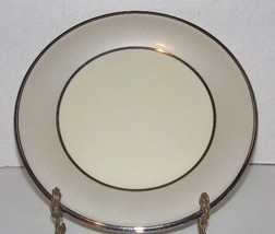 "Lenox China Ivory Frost Platinum Dinner Plate - Round/10.5"" wide - $18.32"