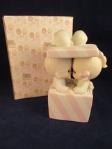 Precious Moments Our First Christmas Together Music Box #101702 clef mar... - $10.88
