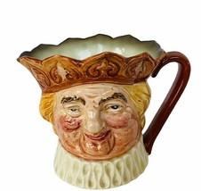 "Royal Doulton Toby Mug Jug Old King Cole England figurine vtg 4"" face bu... - $38.65"