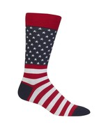American Flag Hot Sox Dress Crew Socks Red New Men's Size 10-13 Patriot ... - $11.95