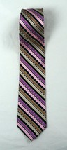"""Ted Baker London Striped 60"""" Neck Tie 100% Silk Hand Made in USA - $22.76"""
