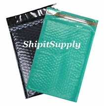 2-500 #000 4X8 Poly ( Black & Teal ) Color Bubble Padded Mailers Fast Sh... - $2.99+