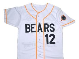 Bad News Bears Movie #12 Button Down Baseball Jersey White Any Size image 4