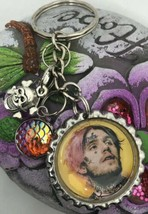 Lil Peep Key Chain Necklace Key Ring Fob Jewelry Trend Setting - $8.59