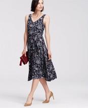 Ann Taylor Paisley Print Belted Jersey Midi Dress, size L, NWT - $65.00