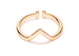 1 piece of Rose Gold Plated Geometric Simplistic Ring (JZ043B)XH - $2.50