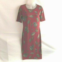 LuLaRoe Women's Julia Dress XS Leaves Red Blue Green Short Sleeve - $17.81
