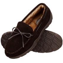 Rockport Men's Memory Foam Plush Suede Slip On Indoor/Outdoor Moccasin S... - $45.87 CAD