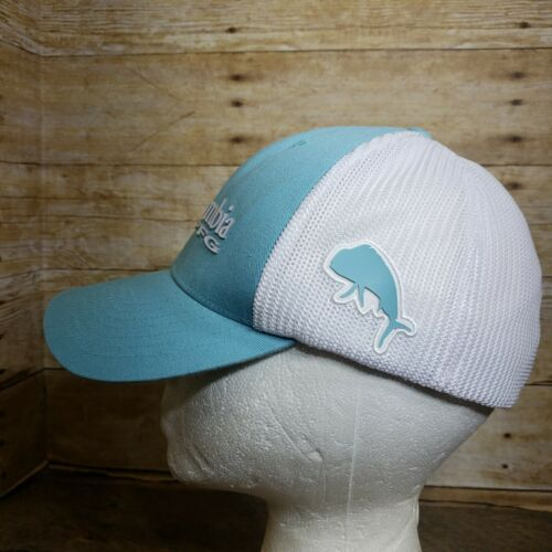Columbia PFG Mesh Ball Cap, Aqua Blue S/M Flex Hat