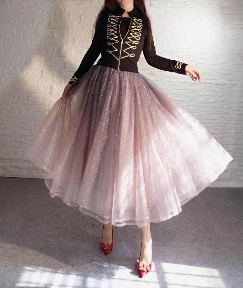 Burgundy sparkly sequin skirt  7