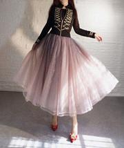 Rose Sparkle Skirt Long Tutu Glitter Skirt Rose Gold Sequin Skirt Floor Length image 1