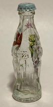 Coke Coca-Cola Mini Miniature crystal glass bottle Dried Colorful Flowers inside image 4