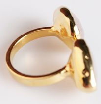 New Janna Conner Women's Gold Plated Rose Quartz Fashion Ring Size 7 image 6