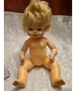 "Horsman  Vintage Drink And Wet Doll Blond Hair and Painted Eyes  - 12"" - $11.92"