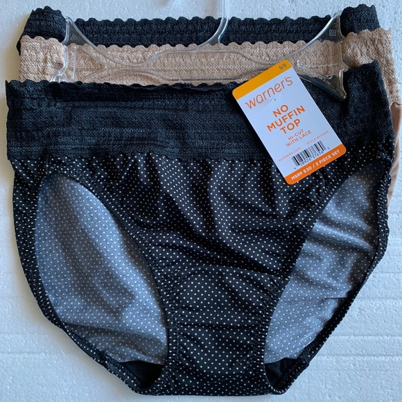 0624a2603ee2 Warner's No Muffin Top Hipster with Lace S/5 and 50 similar items. Image