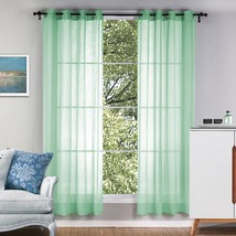 1Pcs Solid Color Tulle Door Window Curtains for bedroom Scarf Valances M... - $41.50