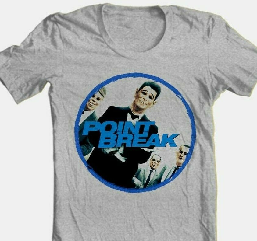 Point Break T shirt Ex-Presidents classic 80's movie 100% cotton graphic tee