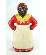 "Vintage Black Americana Aunt Jemima Mammy 8.5""  Cast Cement Plaster Figure - $24.19"