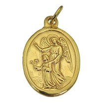 24K Yellow Gold Plated Charm ARCHANGEL Guardian Angel Watch over Protect... - $19.80