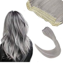 Hetto Flipp in Hair Extensions for Woman 14Inch Halo Remy Human Hair Extensions