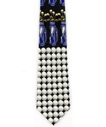 Blue Golf Bags Mens Necktie Hole Ball Golfing Game Golfer Gift Him Neck ... - $15.79