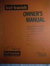 Kut-Kwick HM 2300-60F lawn tractor manual orig owner's parts manual **rare 1978 - $16.41
