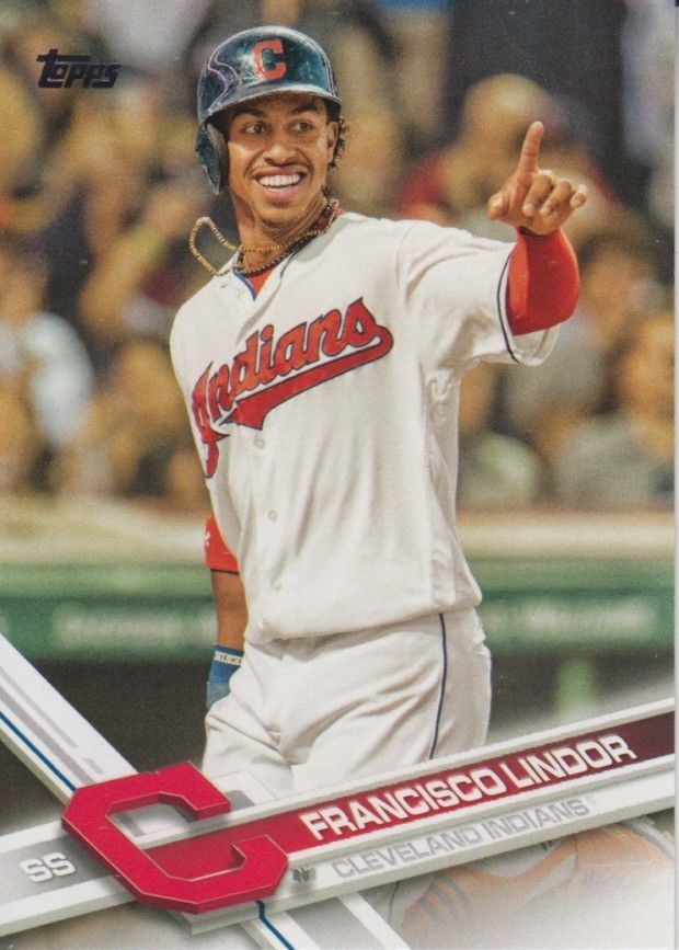 Cleveland Indians 2017 Topps Series 1 Team Set (12 Cards)