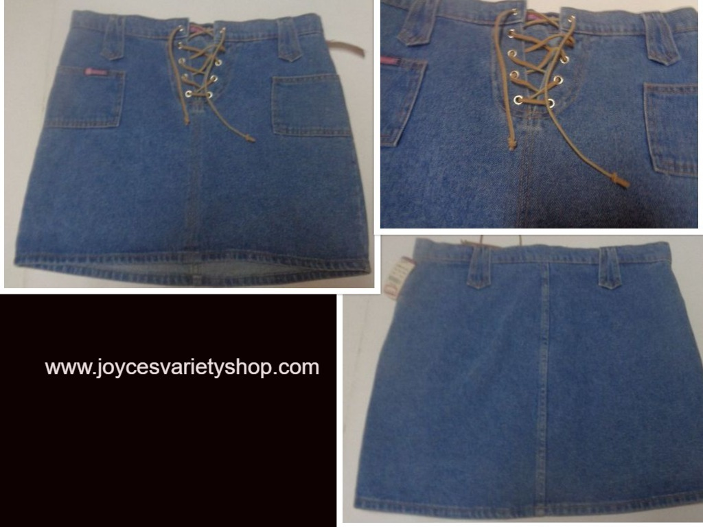 Bubblegum jean skirt web collage