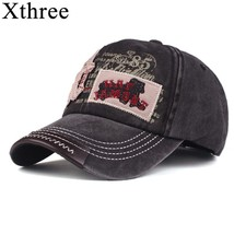 Xthree New Baseball cap Retro Cotton cap Snapback Hats for Men Women Cap... - $11.99