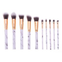 BellaCullen® 10pcs/Set Marble Makeup Brushes Powder Foundation Eyeshadow... - $12.49
