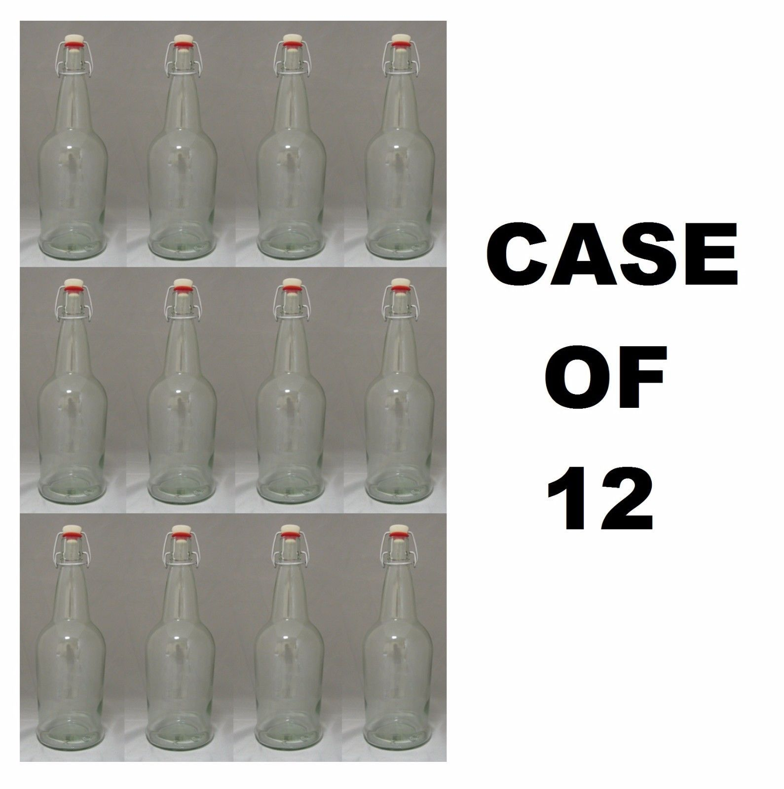 Beer Bottles 12 Ez Cap Clear Glass SWING-TOP and 13 similar items