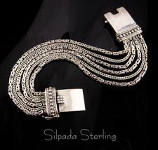 Vintage Silpada Sterling Bracelet - unisex byzantine style - heavy chain... - $225.00