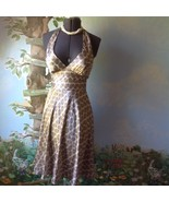 Alynpaige New York Women Brown Halter Satin Dress Size 3/4 - $21.78