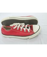 Converse All Star Chuck Taylor Low Tops Kids Size 3 Y Red Sneakers VTG  - $19.80