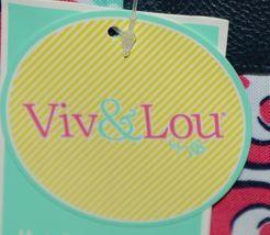 Viv Lou M440VLMIA Mia Tile Travel Bag Lime Green Pink and Navy Blue image 10