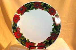 "Gibson Charming Poinsettia 10"" Dinner Plate - $6.92"