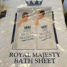 "HIs & Her Bath Sheet Towels Royal Majesty NEW 32"" x 58"" - $9.24"