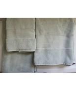 H Hotel Collection Shale Blue Set of 3 1 Bath Towel 1 Hand Towel 1 Tub Mat - €37,62 EUR