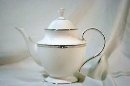 Lenox 2019 Pearl Platinum Tea Pot 5 Cup 40 oz. New - $194.03