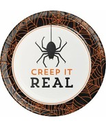 Creep It Real 8 7 inch Dessert Cake Plates Halloween Party Cocktail Spider - $4.39