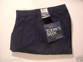 Men's Pants Wrinkle Free Todays Man West Side  Black 35 x 32 - $22.93