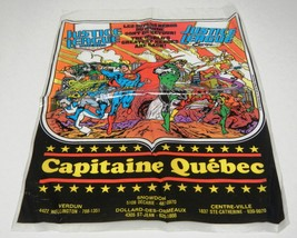 Justice League America + Europe Promo Comic Book Plastic Bag Capitaine Quebec - $3.95